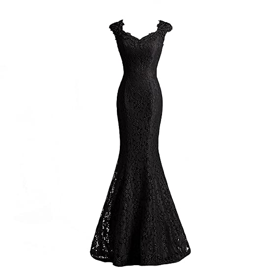 Risestaryiding Elegant Beaded Lace Burgundy Mermaid Evening Gown ...