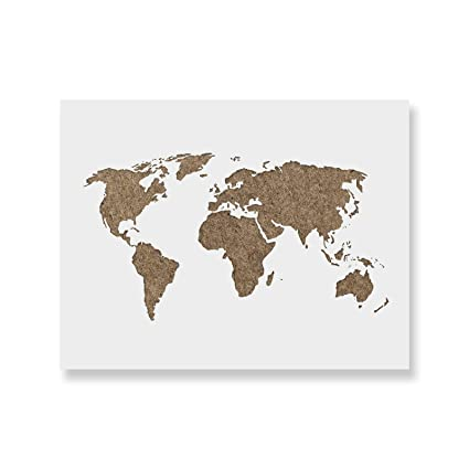 Laser Cut World Map.Amazon Com World Map Stencil Template For Walls And Crafts