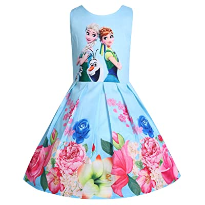 WNQY Princess Costume Dresses Little Girls Cosplay Dress up: Clothing
