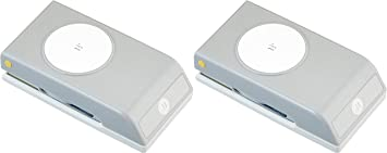 Grey//White Circle Punch New Package Color 1.75-Inch