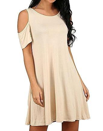 Mujer Vestidos Cortos Verano Elegantes Moda Vestido Casual