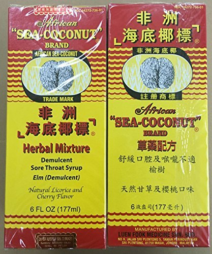 2 Bottles African Sea Coconut Cough Mixture Sore Throat Medicine ()