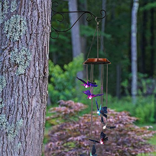 Hanging Plant Brackets, Anpatio 10'' Sturdy Iron Wall Mount Flower Basket Hook Indoor Outdoor Planter Pot Hummingbird Feeder Birdcage Lantern Hanger Black by Anpatio (Image #5)