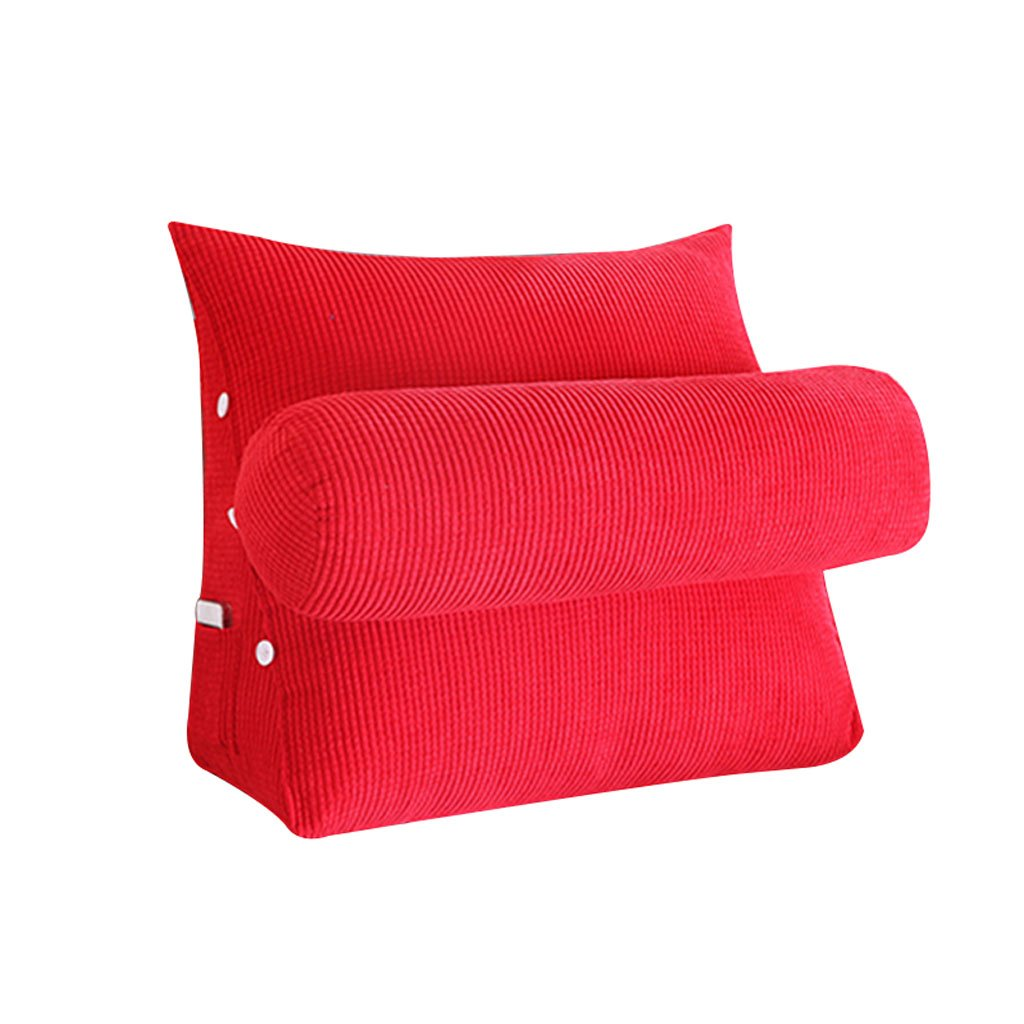 Red Triangle Bedside Pillow Sofa Bed Headrest Lumbar Pillow Backrest Waist Pads Office Pillow Bay Window Cushion Back With Headrest (Size : 60cm20cm50cm)