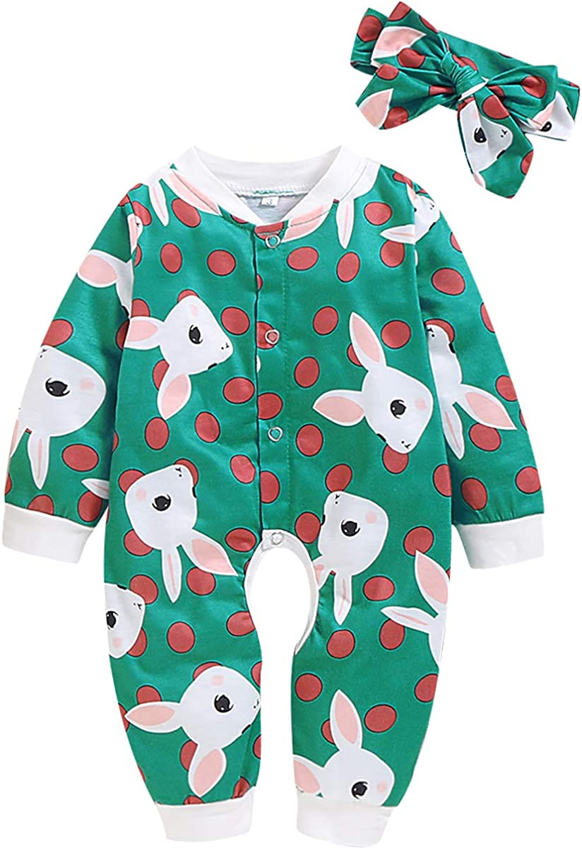 LYSMuch Baby Toddler Girls Boys Long Sleeve Romper Take Home Outfit Jumpsuit
