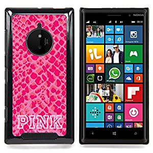 Eason Shop / Premium SLIM PC / Aliminium Casa Carcasa Funda Case Bandera Cover - Modelo de la piel texto blanco - For Nokia Lumia 830