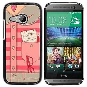 TaiTech / Hard Protective Case Cover - Secretary Office Pink - HTC ONE MINI 2 / M8 MINI