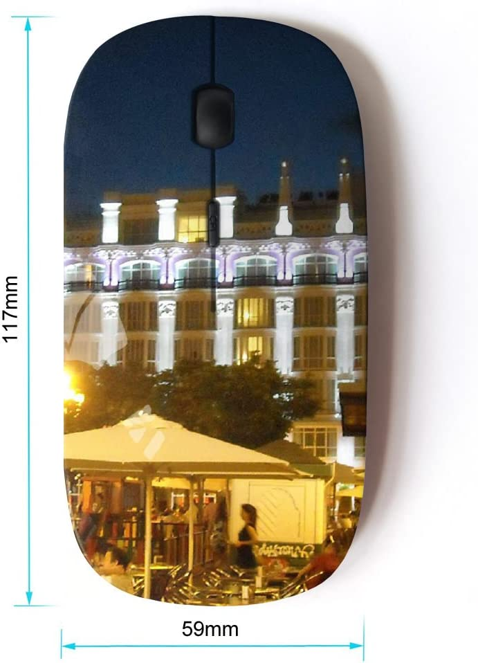 With Nano Receiver FJCases Madrid Spain Postcard View 2.4 GHz Ergonomic Wireless Mouse