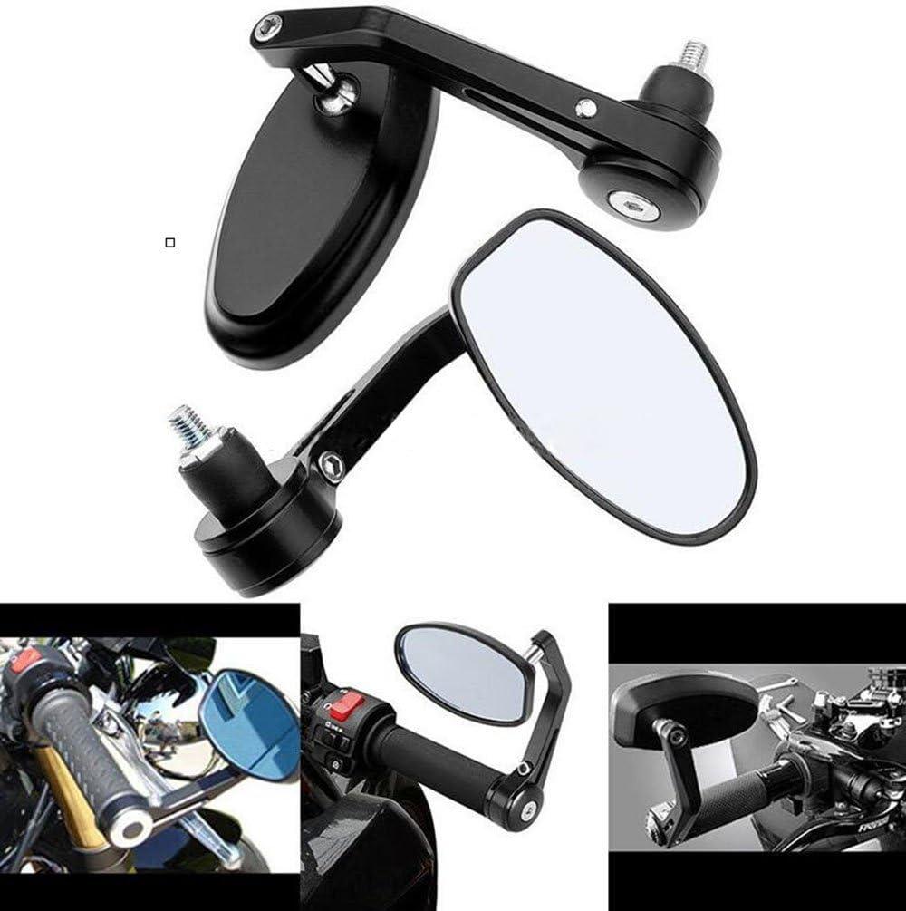 Bar End Mirrors Motor-mh Motorcycle Handlebar Rearview Side Standard 7//8 Hollow Mirror Fit for Honda Yamaha Suzuki Kawasaki and More
