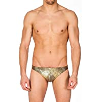 Gary Majdell Sport Men's Print Contour Pouch Greek Bikini Swimsuit