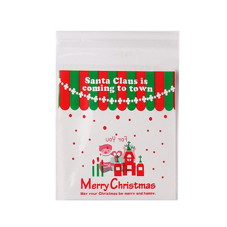 Gosear 100 pz Auto Adesivo Cookie Caramella Snack Mano Soap Pacchetto Regalo Borse Sacchetto 2.8 x 2.8 pollici
