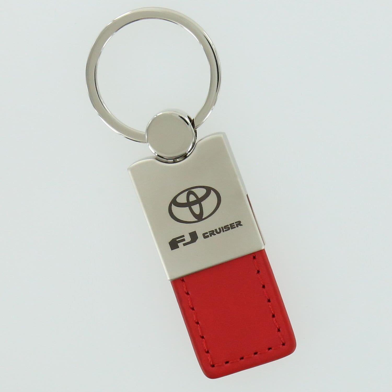 Toyota FJ Cruiser Red Leather Key Ring
