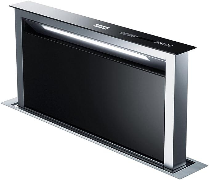 Franke FDW 908 IB XS Hotte/table Hotte/Verre/25,0 cm/table Hotte aspirante avec télécommande/éclairage LED/Inox/Noir