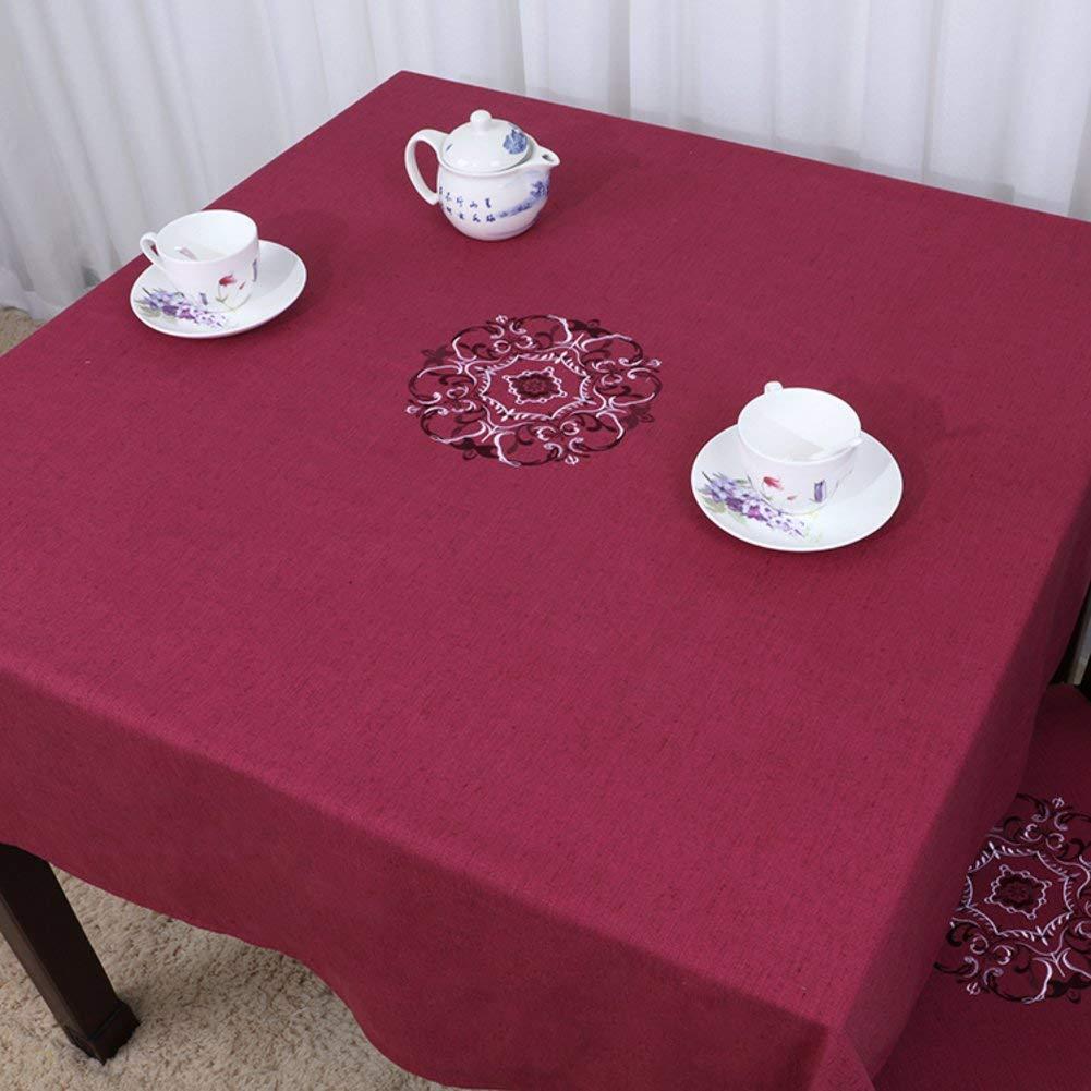 Shuangdeng 田舎のテーブルクロスファブリックTableclothTeaテーブルクロスデスクデスククロス (Color : P, サイズ : 130x180cm(51x71inch))   B07S99X9FN