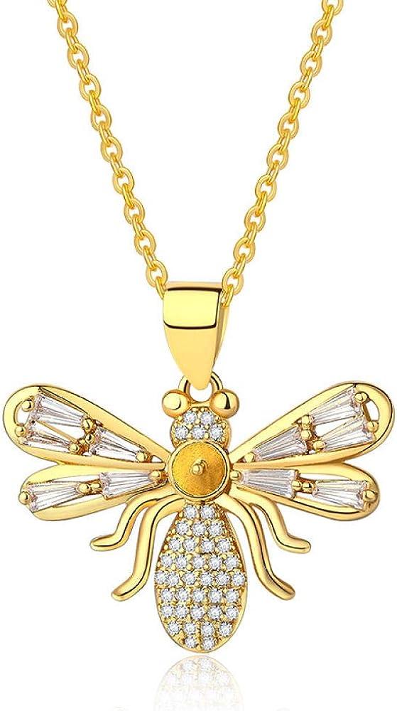 fangfanger Chapado en Oro de 24 Quilates Collar de Joyas Pendientes Pendientes Pendientes de Piedras Preciosas Diamantes señoras simulación Oro