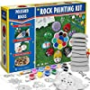Bingo-Castle-Rock-Painting-Kit-Big-Polished-Rocks-for-Painting-Art-Supplies-Crafts-for-Kids-Age-4-8-12-Acrylic-Paint-30-Transfer-Designs-Hide-and-Seek-River-Rocks-Gifts-for-Boys-and-Girls