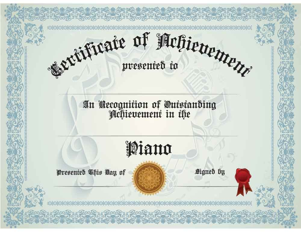 AmazonCom  Piano Achievement Certificate Pack Of Ten