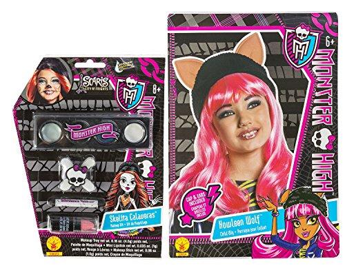 Rubies Monster High Howleen Wolf Wig and Skelita Calaveras Make Up Set ()
