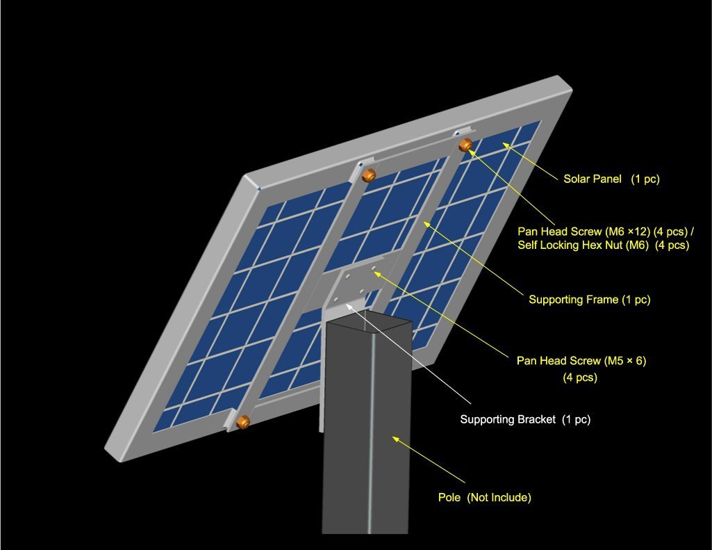 Goliath 20 Watt 20w Solar Panel Module 12v Battery Build A Powered Outdoor Floodlight Dti Charging Garden