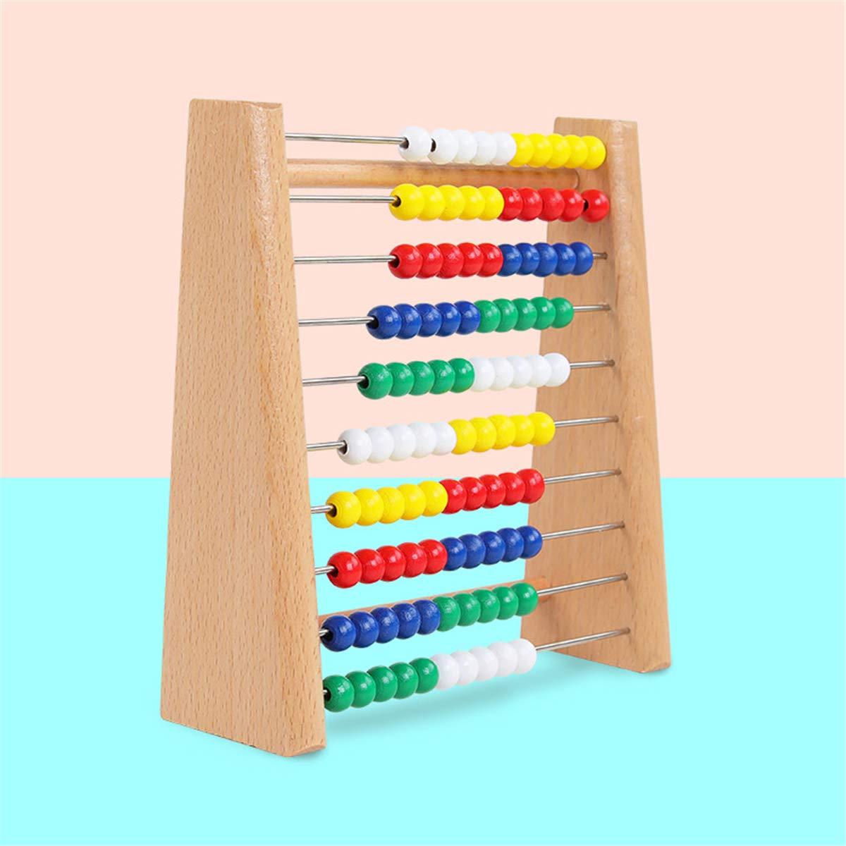 Chiic Montessori Mathe Spielzeug,Abakus Rechenschieber,Abacus Classic Wooden Toy 123 Lernen Mathematik Z/ählen Perlen P/ädagogische Z/ähler Spielzeug F/ür Baby Kleinkind
