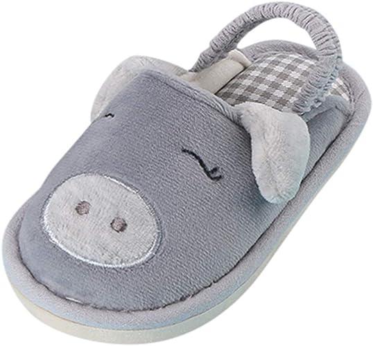 ZOREFINE ♥ Zapatillas de algodón para el hogar para niños ...
