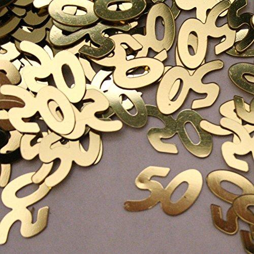 Shatchi 14g 50th Gold-Anni Birthday Party Glitz Table Confetti Sprinkles Decorations