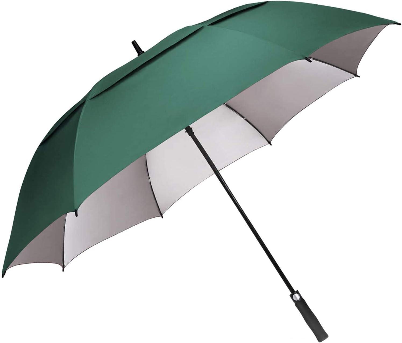 G4Free 54/62/68 Inch Extra Large Windproof Golf Umbrella UV Protection Automatic Open Double Canopy Vented Sun Rain Umbrella Oversize Stick Umbrellas