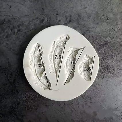 Molde de pastel de fondant de silicona en forma de pluma de ...