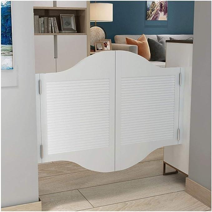 2 Models Customizable Outdoor Rural Fence Gate Doorway Double Open Cowboy Door Partition Door Color : B, Size : 85x70cm Swinging Doors Cafe Doors