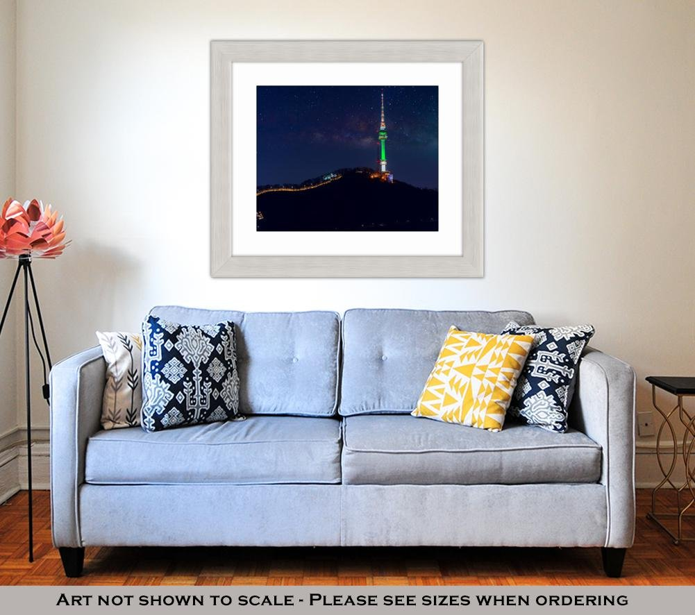 Amazon.com: Ashley Framed Prints Seoul Tower And Milky Way Galaxy In Seoul South Korea, Wall Art Home Decoration, Color, 34x40 (frame size), Silver Frame, ...