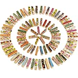 Mini Colorful Wooden Craft Clips Photo Paper Peg, 100 Pieces