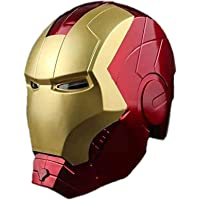 Casco de Iron Man, Ojos Pueden Brillar, Adornos de Muebles, Modelo de Anime, Regalo de Juguete