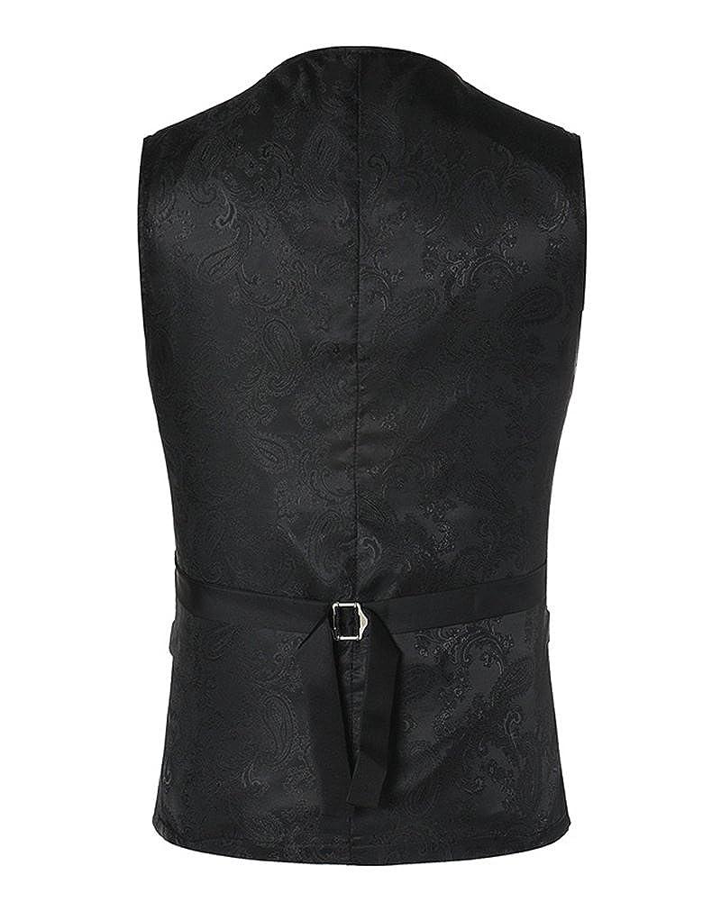 Uomo Senza Maniche Scollo A V Slim Fit Elegante Blazer Gilet