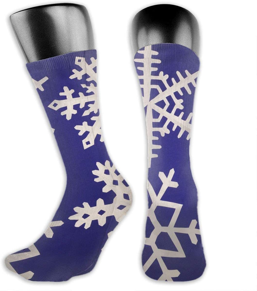 OLGCZM Snowflake Men Womens Thin High Ankle Casual Socks Fit Outdoor Hiking Trail