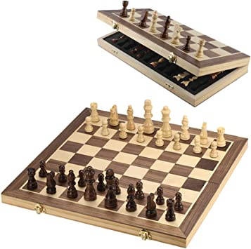 Magnetic Wooden Folding Chess Board