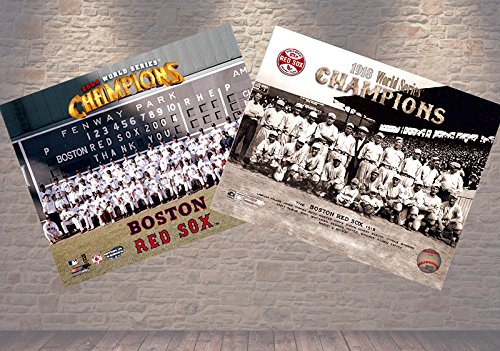 Pictures Series 2004 World - The Wait Is Finally Over! The Boston Red Sox 2004 World Series Champions 8x10, & The 1918 World Series Champions Team 8x10 Photo. Team Pictures