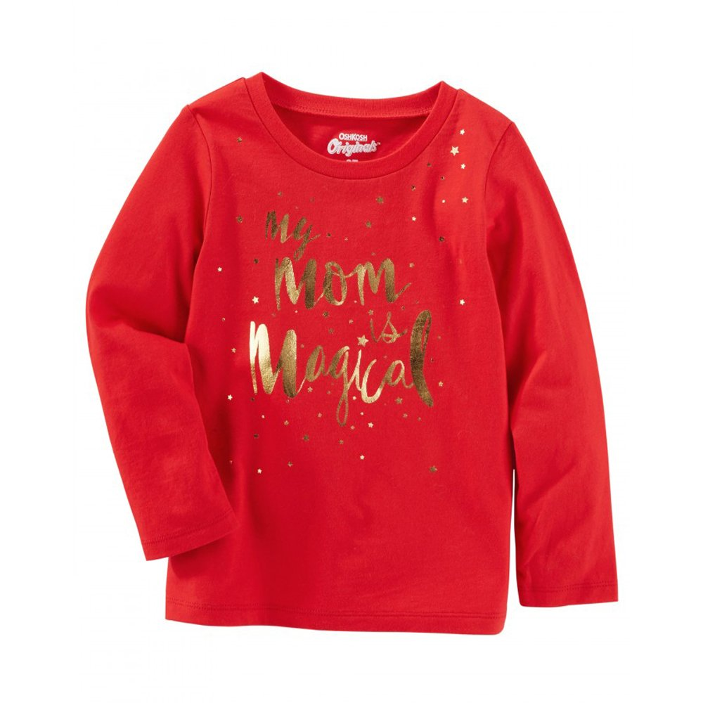 Red 24m OshKosh GirlsMy Mom Is Magical L//S Tee