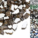 QuliMetal 1/2 Inch Fire Glass, Copper High Luster Reflective Tempered Glass Rocks for Indoor Outdoor Fireplaces, Fire Pit, Na