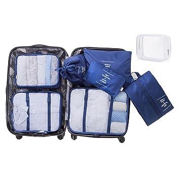 Amazon.com: Juego de 8 cubos de embalaje, 6 bolsas ...