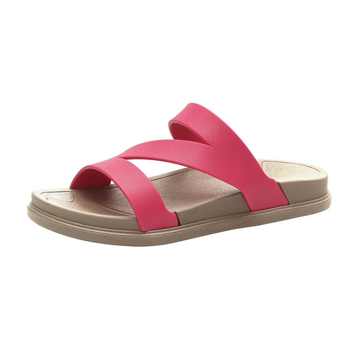 2018 New Ladies Summer Beach Bath Slippers Casual Wedge Sandals Women Shoes B07BNQVSMN 7 B(M) US|Hot Pink