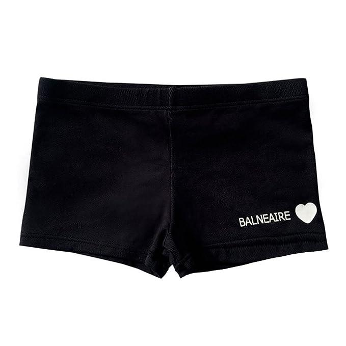 0dbbc31bd0 BALNEAIRE Swimming Shorts for Kids,Boys Swimsuit for Age 11-12 Swimming  Trunks Black