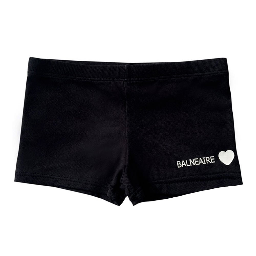 BALNEAIRE Swimming Shorts for Kids,Boys Swimsuit for Age 5-6 Swimming Trunks Black