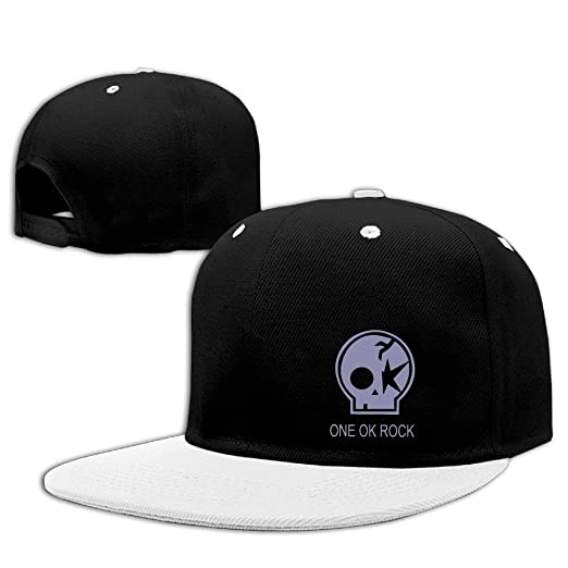 da7c144c41e97 Amazon.com  One OK Rock Skull Logo Flat Bill Adjustable Hat Cool ...
