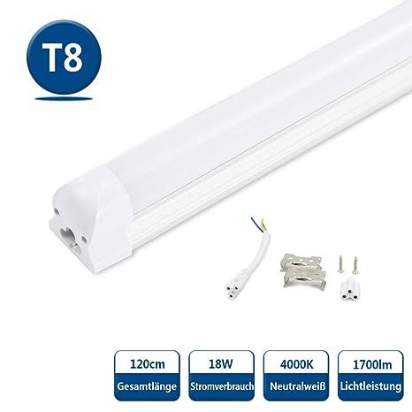 Lampade A Neon Per Ufficio.Neon Led Tubo Lampada Fluorescente T8 Tubi Led 120cm 18w G13 Smd2835