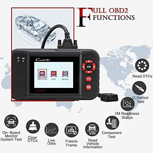 The Creader VII+ helps users read and clear codes and view live data in engine and transmission