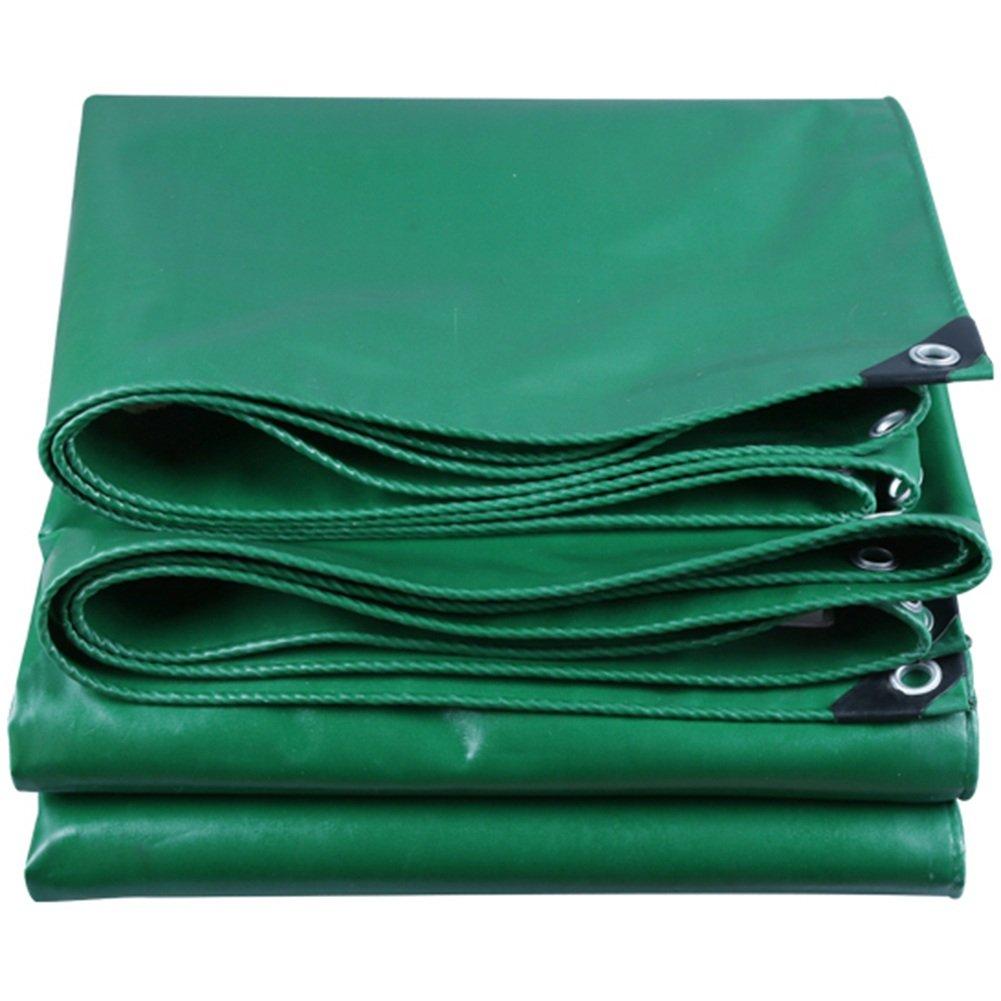 CHAOXIANG ターポリン 厚い 屋外 耐摩耗性 車 シェード布 雨布 PVC、 530G/㎡、 15サイズ (色 : Green, サイズ さいず : 1.5x1.8m) B07FZ6V32M 1.5x1.8m|Green Green 1.5x1.8m