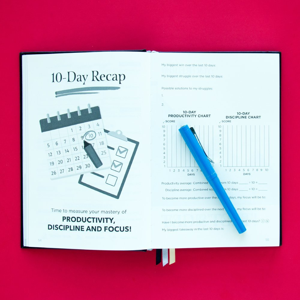 The Mastery Journal - The Best Daily Planner for mastering productivity, discipline and focus in 100 days! Hardcover, Non Dated - 1 Year Guarantee by The Mastery Journal (Image #5)
