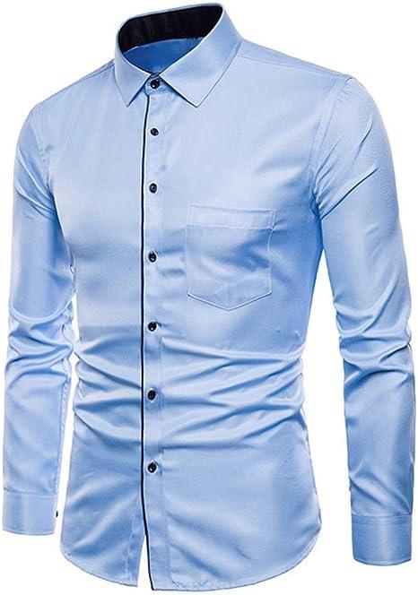 CHENS Camisa/Casual/Unisex/XXL Hombre Manga Larga Oxford Trajes Formales Casuales Slim Fit tee Camisas de Vestir Blusa Top: Amazon.es: Deportes y aire libre