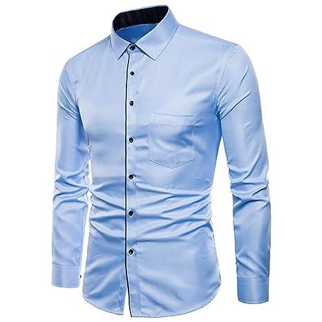 CHENS Camisa/Casual/Unisex/XL para Hombre de Manga Larga Oxford ...