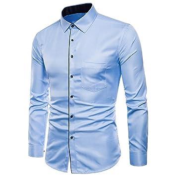 CHENS Camisa/Casual/Unisex/XL para Hombre de Manga Larga ...